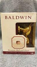 Baldwin Egg Estate Knob 95425.030 Polished Brass Finish