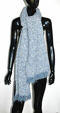 OVERSIZED Cable Knit SCARF Blue Gray Designer Comfort Winter Fashion Wrap