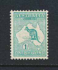 """Australia 1913, 1sh Bl Green """"Island Off Tasmania+Re Entry"""" Roo Vf Mlh Sg#11a"""