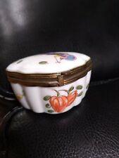 Vintage Limoge France Chamart Manufacture Hinged Trinket Box