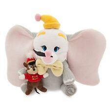 Disney DUMBO & TIMMY Flying Baby Elephant Plush Stuffed Animal Child Toy
