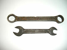 "Vintage Indestro Wrench's Combo 26/32"" & 3/4"" & open ended 1/2"" & 9/16"" Lot of 2"