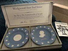 "Vintage Wedgwood State Seal Series No. 9 Georgia in Box 4.25"" Plates (K)"