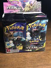 Pokemon Sun Moon Team Up Booster Box ! Opened . All 36 Original Sealed Packs