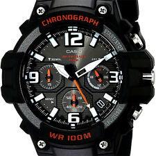 Casio MCW100H-1AV Men's Analog Watch Chronograph Heavy Duty 100M WR Black Quartz