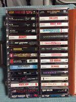 Lot Of 30 Vintage 1980's Hard Rock Heavy Metal Cassettes