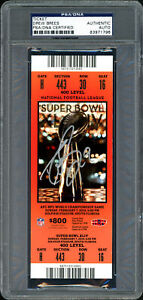 Drew Brees Autographed Signed Super Bowl XLIV Ticket Saints PSA/DNA 83971796