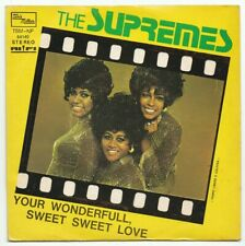 """7"""" ITALY - THE SUPREMES - """"YOUR WONDERFULL"""" - TAMLA - FUNK SOUL - 1972 - NM"""