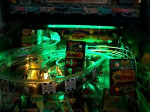 Sega BATMAN FOREVER Pinball Playfield Light mod GREEN