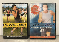 New Sealed! Tony Horton's Power 90 In-Home Boot Camp Phase 1-4 And Fat Burning