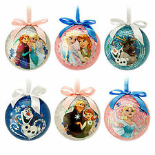 Authentic US Disney Store Frozen Ball Ornament Set of 6 NIB!! Anna Elsa Olaf