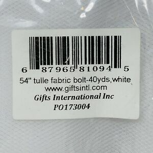 """White 54"""" x 40 yards Tulle Fabric Bolt Tutu Wedding Decoration Party Craft"""