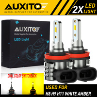 AUXITO H8 H11 H16 LED Fog Light DRL Driving Bulb 4000LM Yellow White Switchback