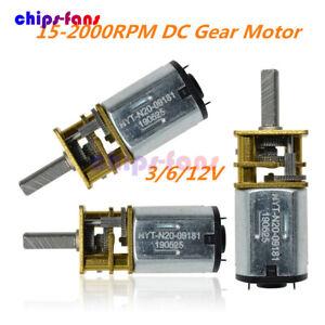 GA12-N20 30/60RPM 3/6/12V 15-2000RPM DC Gearmotor Micro Gear Motor Metal Gearbox