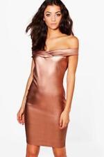Boohoo Off Shoulder/Bardot Stretch Dresses for Women