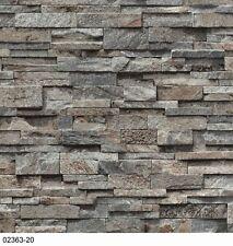 Carta da parati p + S Facile Bella 02363-20 pietre muro 3D OPTIK grigio marrone