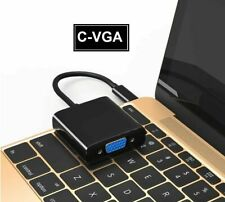 USB-C TypeC 3.1 to VGA Monitor/Projector Cable Adapter Laptop MacBook Chrome UK