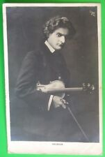 RP Postcard POSTED 1906 MUSICIAN HEGEDUS WITH HIS VIOLIN