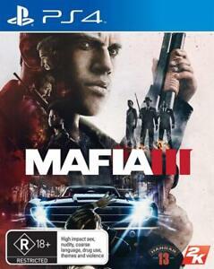 Mafia III 3 with Map & Family Kick-Back Pre-Order Bonus DLC *FREE Post* PS4 Game