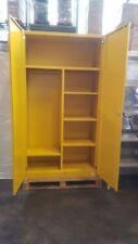 Stabiler Materialspind Werkzeugspind Spind Spindschrank - gelb - Schäferwerke KG