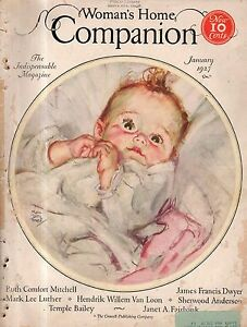 1927 Womans Home Companion January - Temple Bailey;H W Beecher;Are you a blonde?