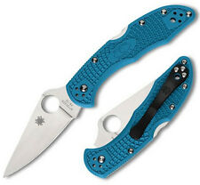 Spyderco Delica4 FRN Flat Ground Folding Knife C11FPBL