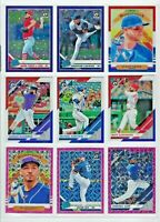 2019 PANINI DONRUSS BASEBALL COLOR PRIZM  INSERTS COMPLETE YOUR SET!