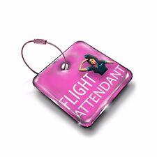Flight Attendant -CREW  LUGGAGE TAG (METAL)