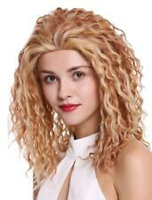 Ladies' Wig Human Hair Long Lace-front Curls Blonde With Copper Brown 45cm