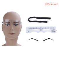 Eyebrow ruler stickers stencil shaper microblading permanent makeup supplies HU
