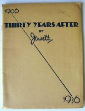 ''THIRTY YEARS AFTER'' Car Publication Brochure By Jowett - 1906-1936