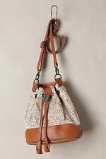 Anthropologie Miss Albright Bucket Calf Hair Leather Bag Drawstring Handbag $148