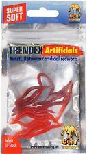 15 künstliche Würmer Gummiwürmer Forellenköder Wurm 4cm Behr