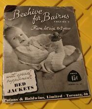 Vintage Beehive for Bairns Knit Pattern Volume 2 Toronto Ontario