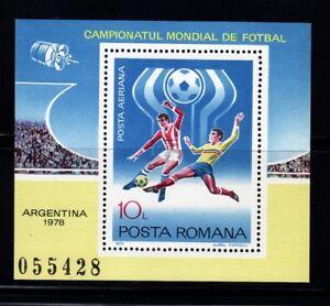 Stamps Sports Futbol. Romania 1978 World Cup Argentina 78 Hb 133