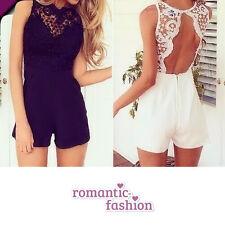 ♥Größe 34-40 Jumpsuit mit Hosenrock, Overall, Partykleid Schwarz oder Weiß+NEU♥