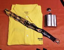 Jägermeister Men's Barenjager Short Sleeve Shirt, Flask, & Lanyard - Size M or L