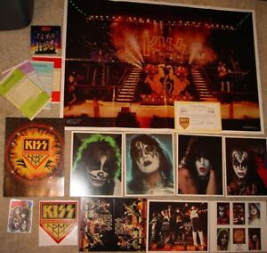 KISS VINTAGE 1978 KISS ARMY KIT w/ALIVE 2 POSTER ACE PETER GENE PAUL -NICE!