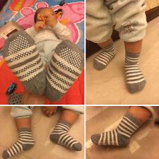 12 Pair Kids Baby Toddler Cotton Socks Stripes Assorted Non Skid Ankle Anti Slip