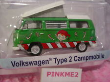 Holiday VOLKSWAGEN TYPE 2 CAMPMOBILE VW☃ Green/White☃ELF☃Candy Canes☃Greenlight