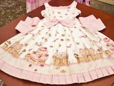 Angelic Pretty Lolita White Country of Sweets Gingerbread House JSK Dress Used