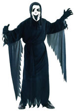 Mens Scream Costume Robe and Mask Adult Ghost 90s Fancy Dress Halloween NEW L