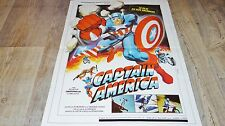 CAPTAIN AMERICA  !   affiche cinema super-heros , comics bd  1979 marvel