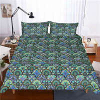Like Nice Peacock Feathers 3D Digital Print Bedding Duvet Quilt Cover Pillowcase