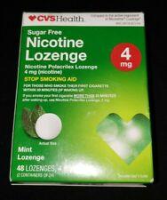 CVS Sugar Free 4 mg Stop Smoking Aid .  MINT -   48 Lozenges   EXP : 11/ 2021