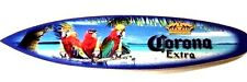 "Corona Surfboard Sign ""Parrot Party"" (Mini Surf. 23"" x 5"")"