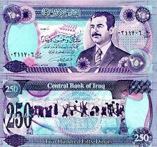IRAQ 250 Dinar Banknote World Paper Money UNC Currency Pick p-85c Saddam Hussein
