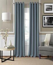 "Elrene Essex Grommet 50"" x 108"" Linen Blend Window Curtain Panel - Blue"