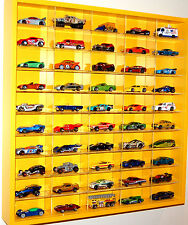 Model Car Display 1:64 & 1:72 Scale Hot Wheels, Matchbox, Biante,Tomica (YELLOW)