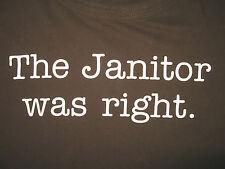"Osama bin Laden SCRUBS TV line ""The JANITOR was RIGHT"" T-Shirt, Men's Sz MEDIUM"